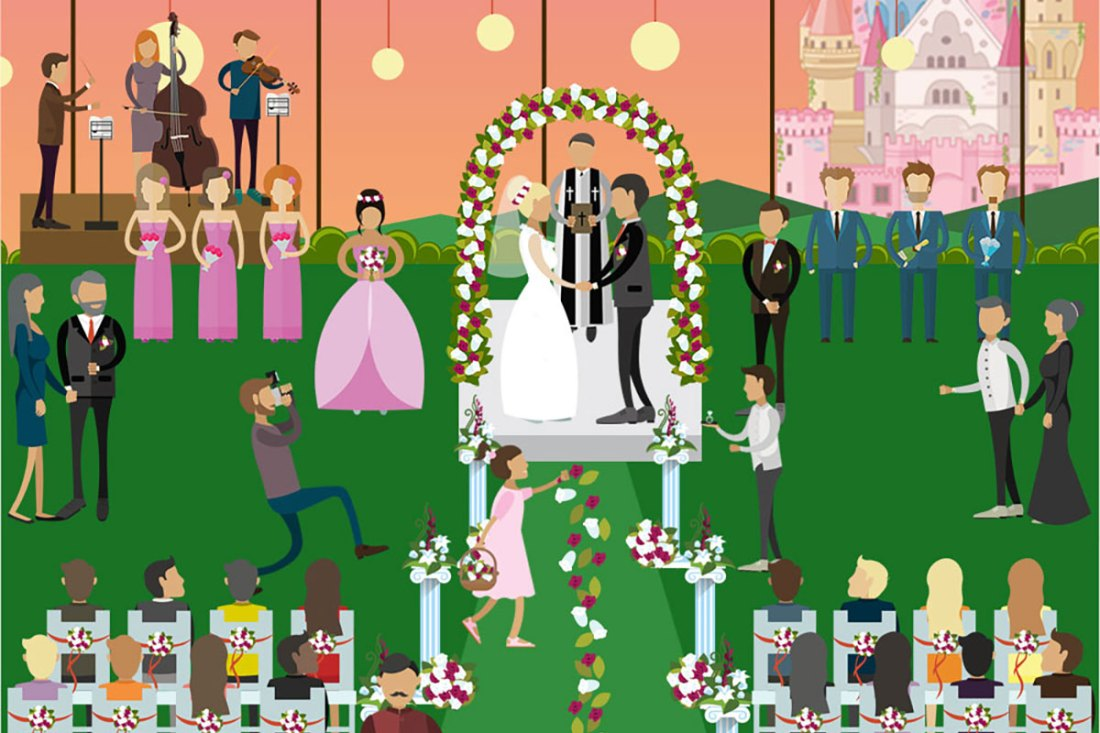 Awesome! Wedding Party Cast & Crew [Infographic]
