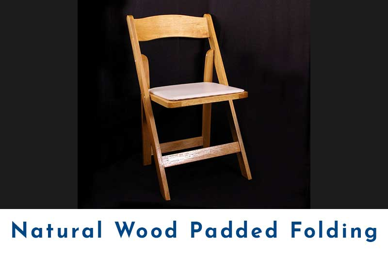 Natural-Wood-Padded-Folding-Chair