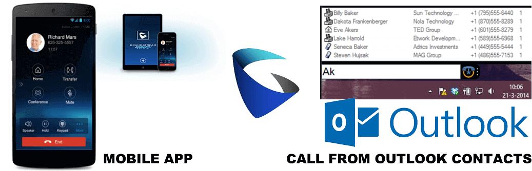 Grandstream Outlook Call