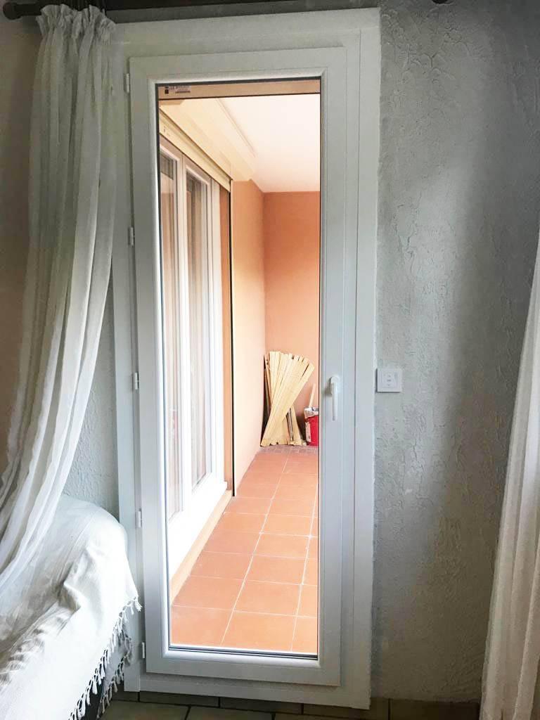 porte fenetre 1 vantail en pvc blanc