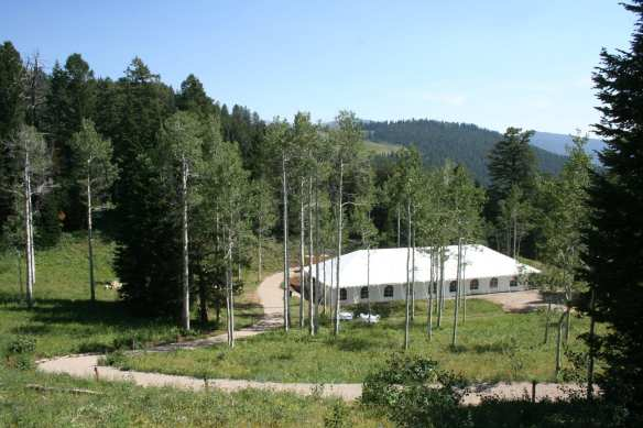 Reception Aspen Meadow Tent Walkway