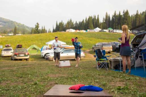 Grab your spot and set up the camp games!