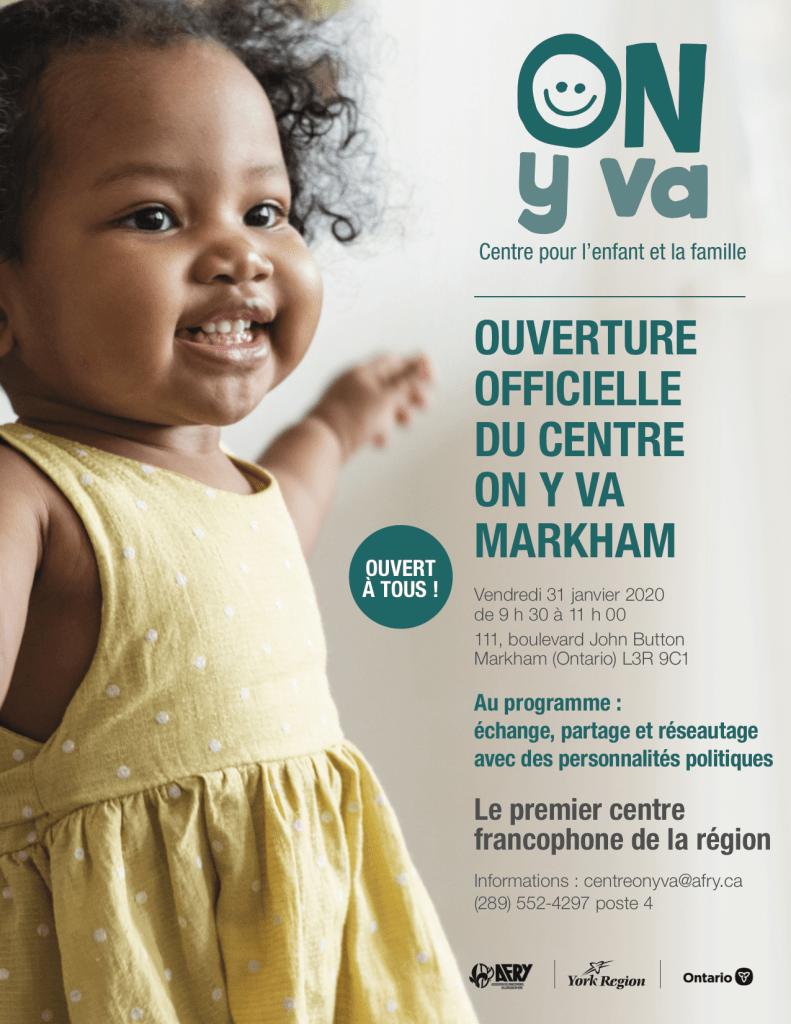 Lancement du Centre ON y va de Markham (conférence de presse) - GrandToronto.ca