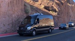 Mercedes Sprinter takes visitors on a Grand Canyon bus tour
