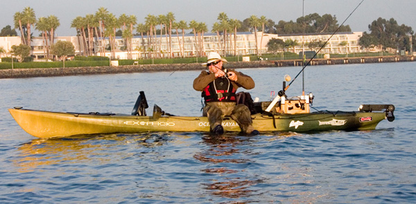 Kayak fishing hull design