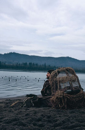 dry land duck hunting