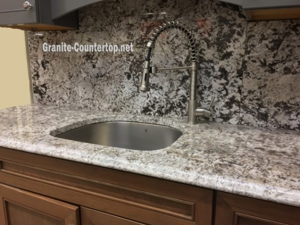 White granite countertop long island NY