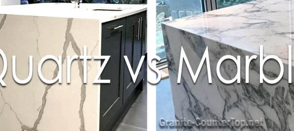Quartz vs marble countertops
