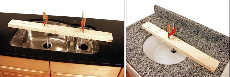 undermount sink installation tool set