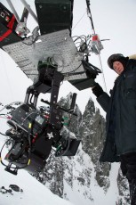 Rigging the Cable Cam in Bella Coola, British Columbia for the feature documentary Steep