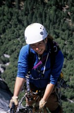 Sarah Garlick climbs the Salathe Wall, El Capitan, 2005