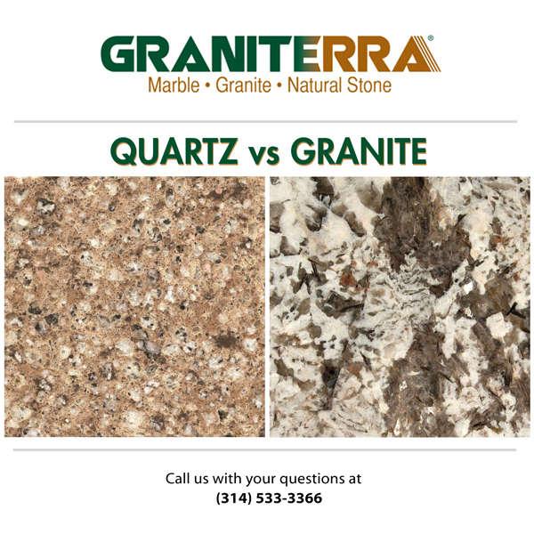 Granite Countertops Vs Quartz Countertops Graniterra St Louis