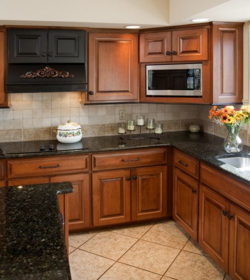 Dark Granite Countertops - Photos of Cabinet Combinations ... on Dark Granite Countertops With Dark Cabinets  id=80844
