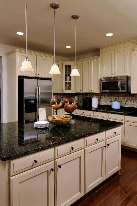 Dark Granite Countertops - Photos of Cabinet Combinations ... on Dark Granite Countertops With Dark Cabinets  id=35196