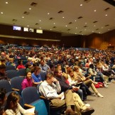 Growing crowd ready for Jeff Kinney to take the stage.
