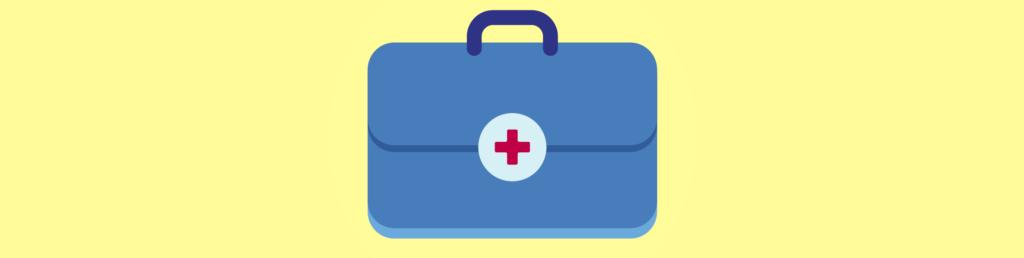 Vector drawing of medical bag