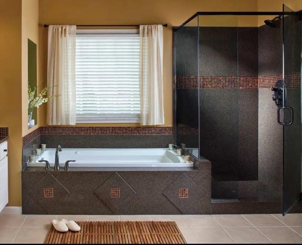 creative tub surround ideas granite