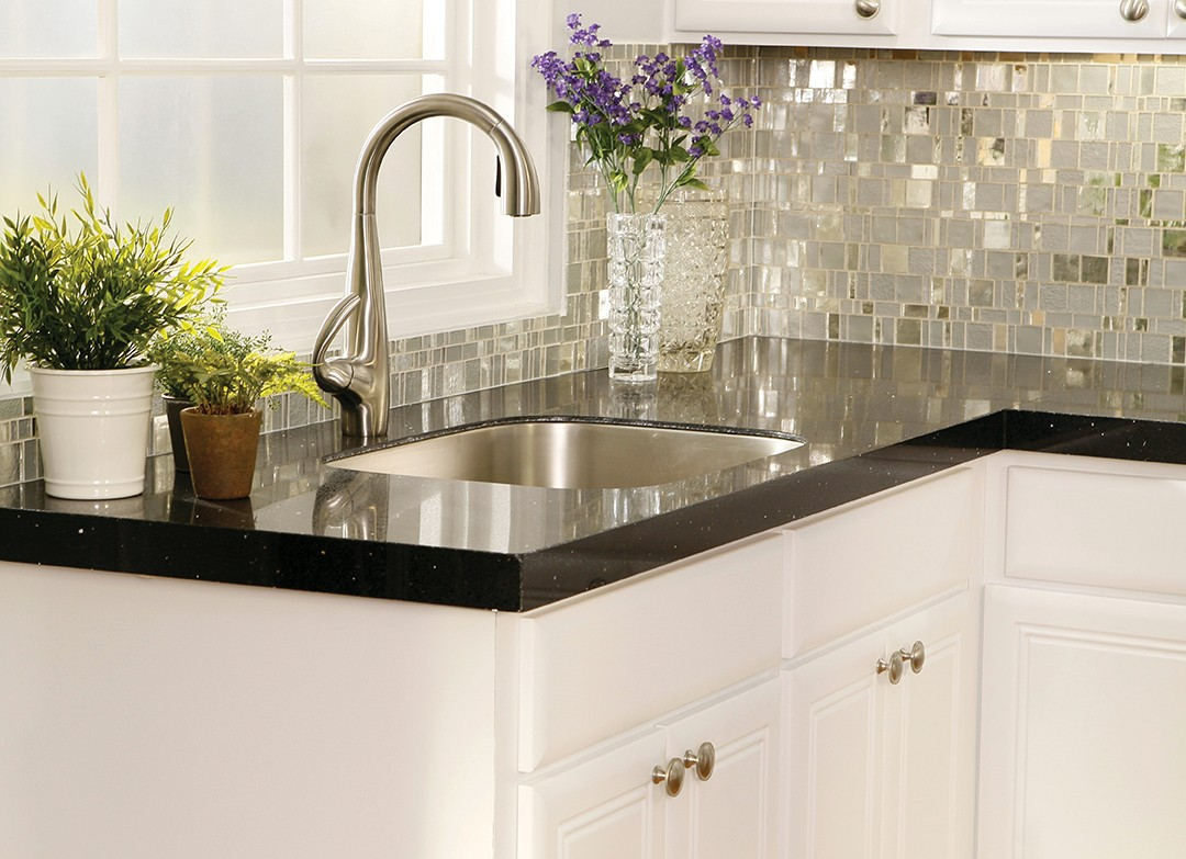 How to Select the Right Granite Countertop Color for Your ... on Backsplash For Black Granite Countertops And White Cabinets  id=95419