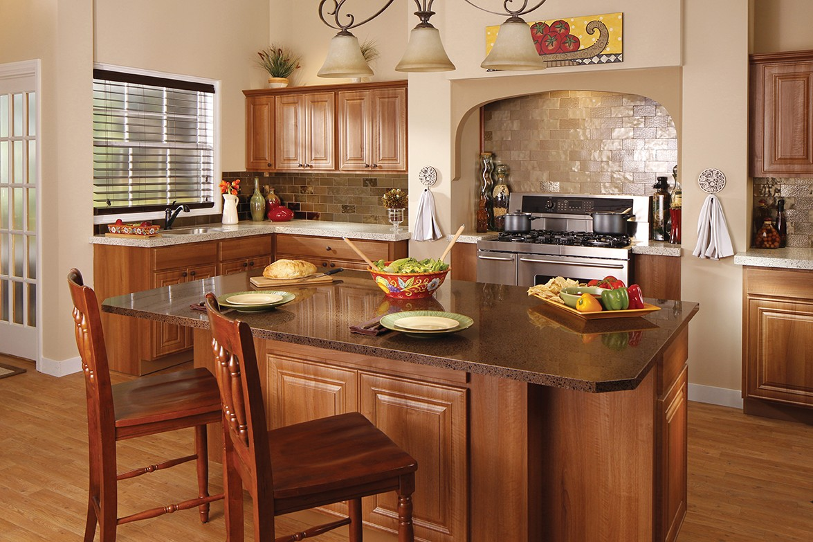 How to Select the Right Granite Countertop Color for Your ... on Backsplash For Black Granite Countertops And Brown Cabinets  id=21479