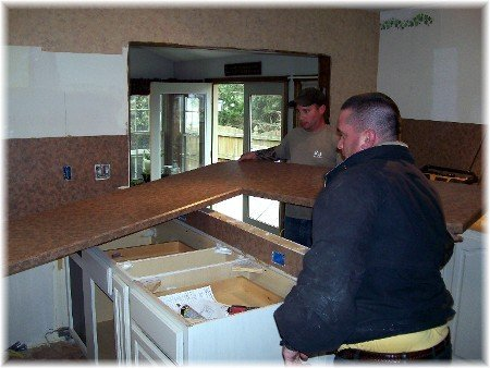 Kitchen Counter Installation Granite