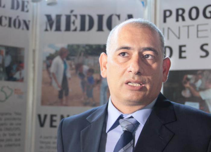 Convención Internacional de Salud Pública, Cuba 2015. Félix Báez, colaborador médico cubano recuperado de ébola.