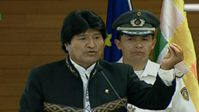 Evo Morales/presidente de Bolivia