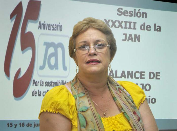 Marcia Noda, secretaria ejecutiva de la JAN. Foto: Alberto Borrego