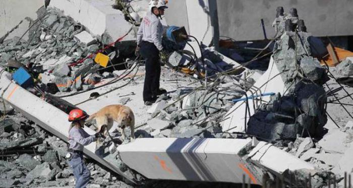 Aumenta cantidad de fallecidos por derrumbe de puente en Miami.