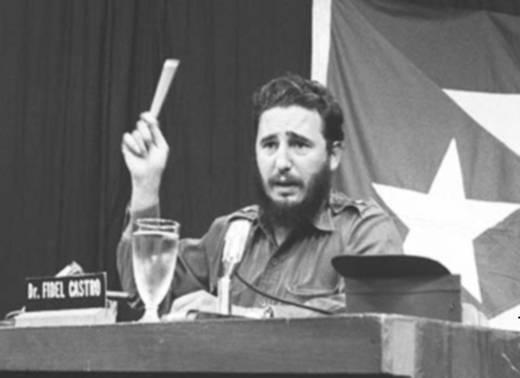 Fidel en los días de sus Palabras a los intelectuales.