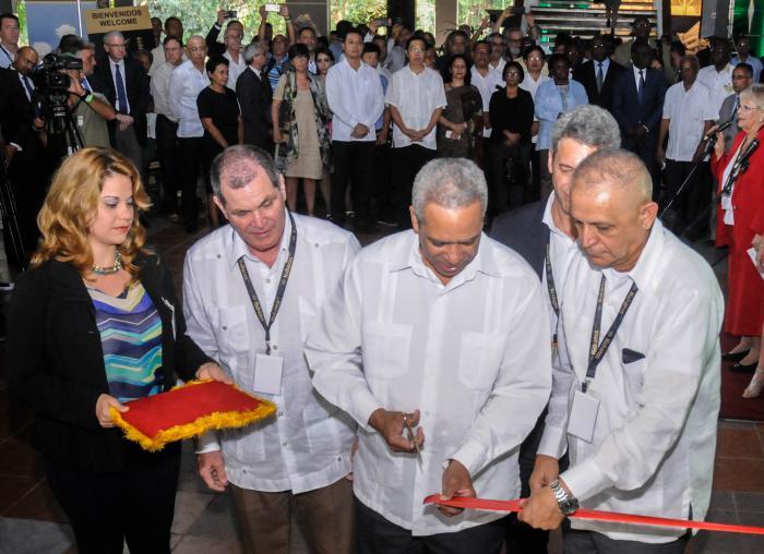 Inauguración del XXI Festival del Habano 2019, por Antonio Luis Carricarte, Viceministro Primero del MINCEX, desarrollado en el Palacio de Convenciones del Playa