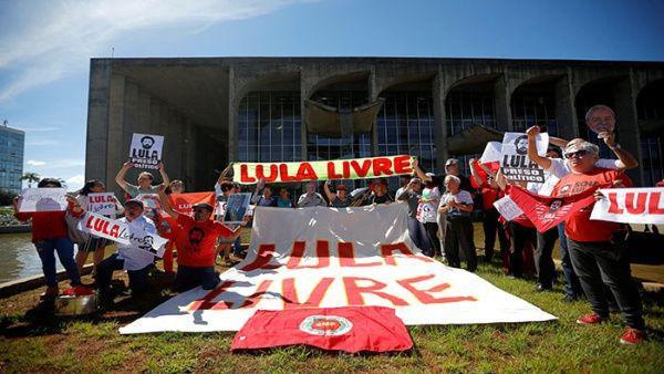 Brasileños demandan la libertad del expresidente Lula da Silva
