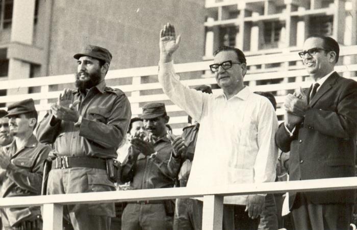 Fidel con Salvador Allende durante su visita a Cuba. foto: Mario Ferrer   13 de diciembre de 1972 Fid18345