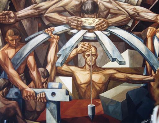 Detalle del mural La ruta de la libertad, de José Vela Zanetti, expuesto en la sede de la onu.