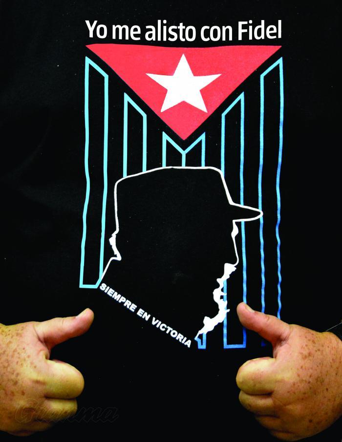 Efige de Fidel en pulover