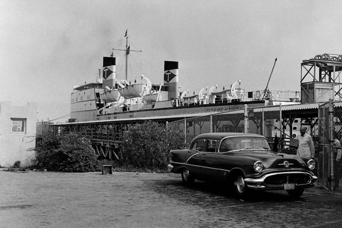 El ferry City of Havana atracado en el muelle de Hacendados, en la ensenada de Atarés, bahía de La Habana