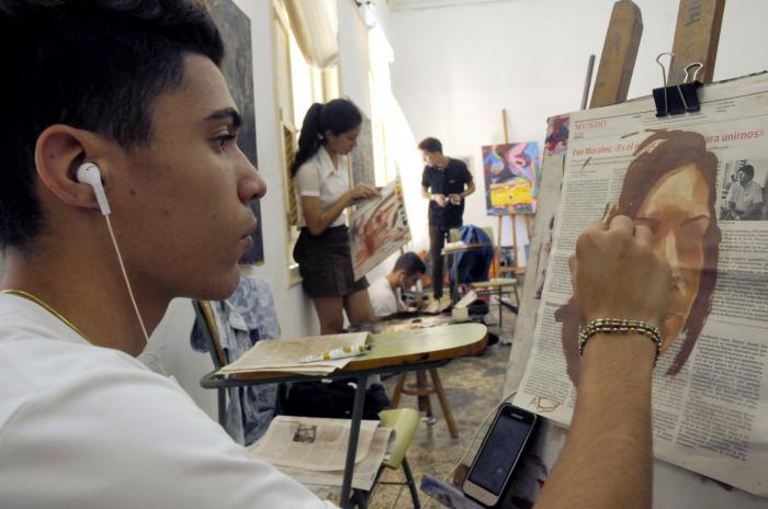 Alumnos de Pintura de la Escuela Nacional de Bellas Artes