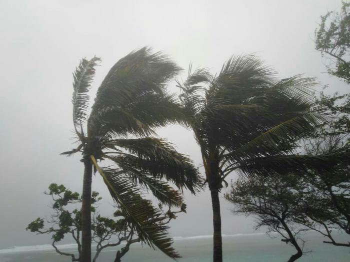 Cabo Cruz, vientos de la tormenta Elsa