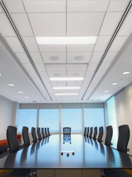 suspended ceiling in a boardroom