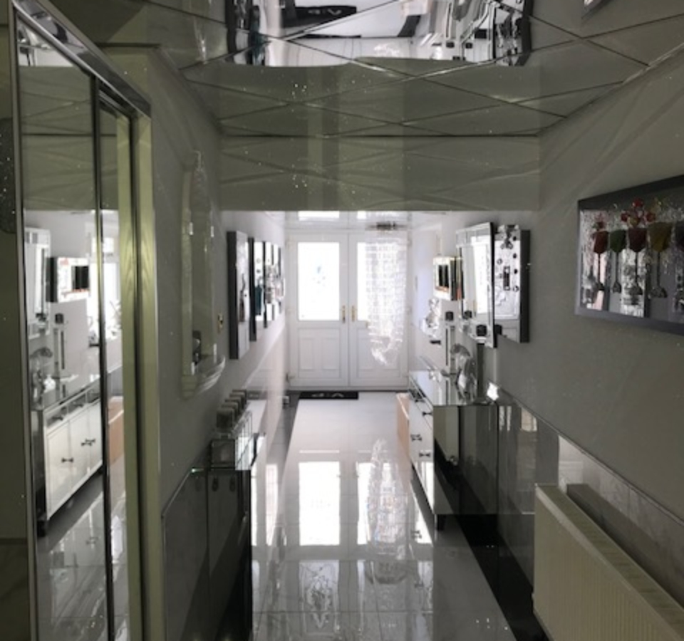 Mirror Ceiling Tiles For A House In Salford Granmore