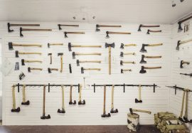 Axe Museum Display wall