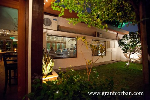 Outside photo of ciao restaurant at night