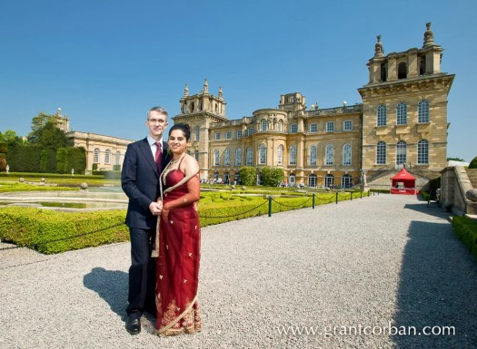 Wedding portraits at Blenheim Palace