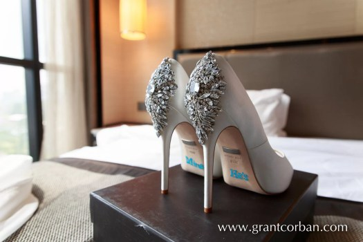 brides wedding shoes inscription Menara KL wedding