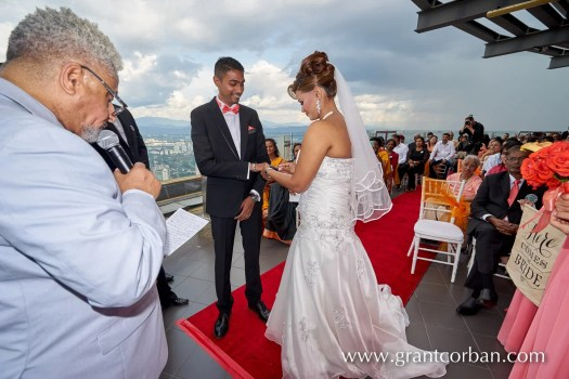 ring exchange Menara KL wedding
