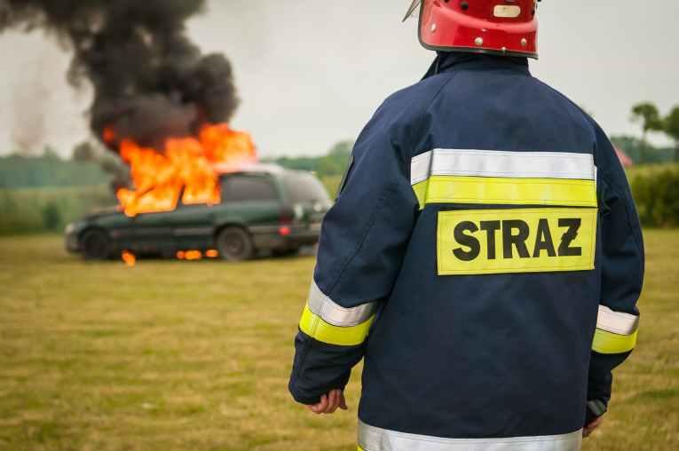 car vehicle fire smoke