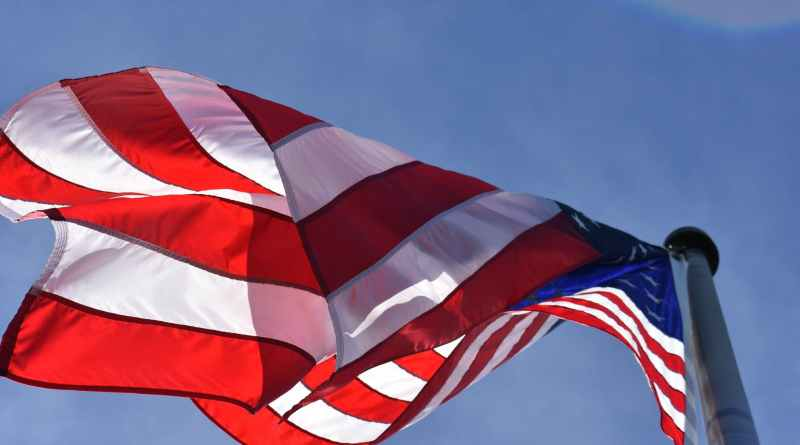 low angle photography of american flag