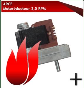 PIECES ARCE MOTOREDUCTEUR 2-5-RPM-2017