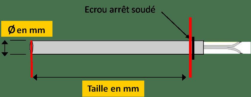 Résistance Bougie Cartouche allumage Poêle Granulés 10 X 100 mm 300 Watts ATB A2