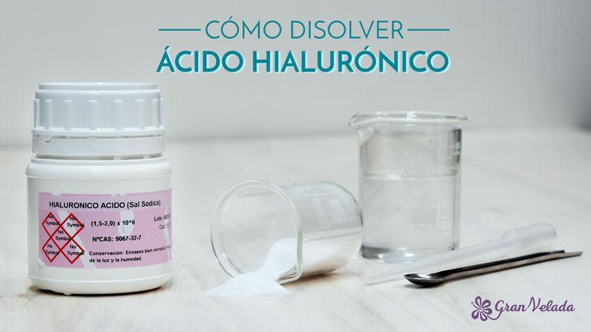 Como disolver Acido Hialuronico
