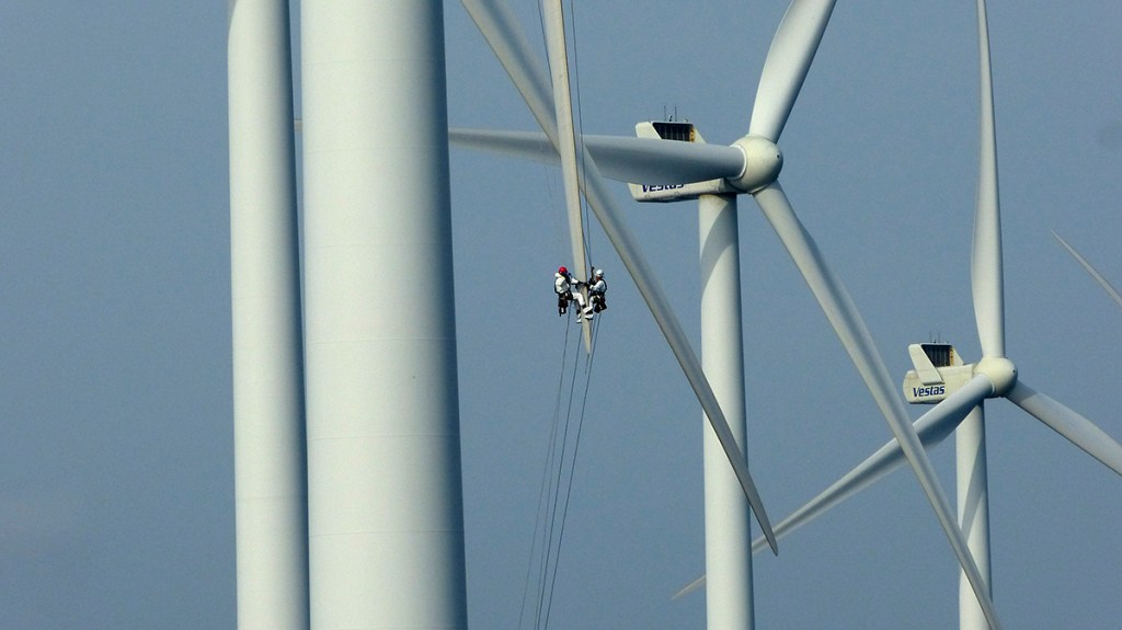 Wind turbine rope access